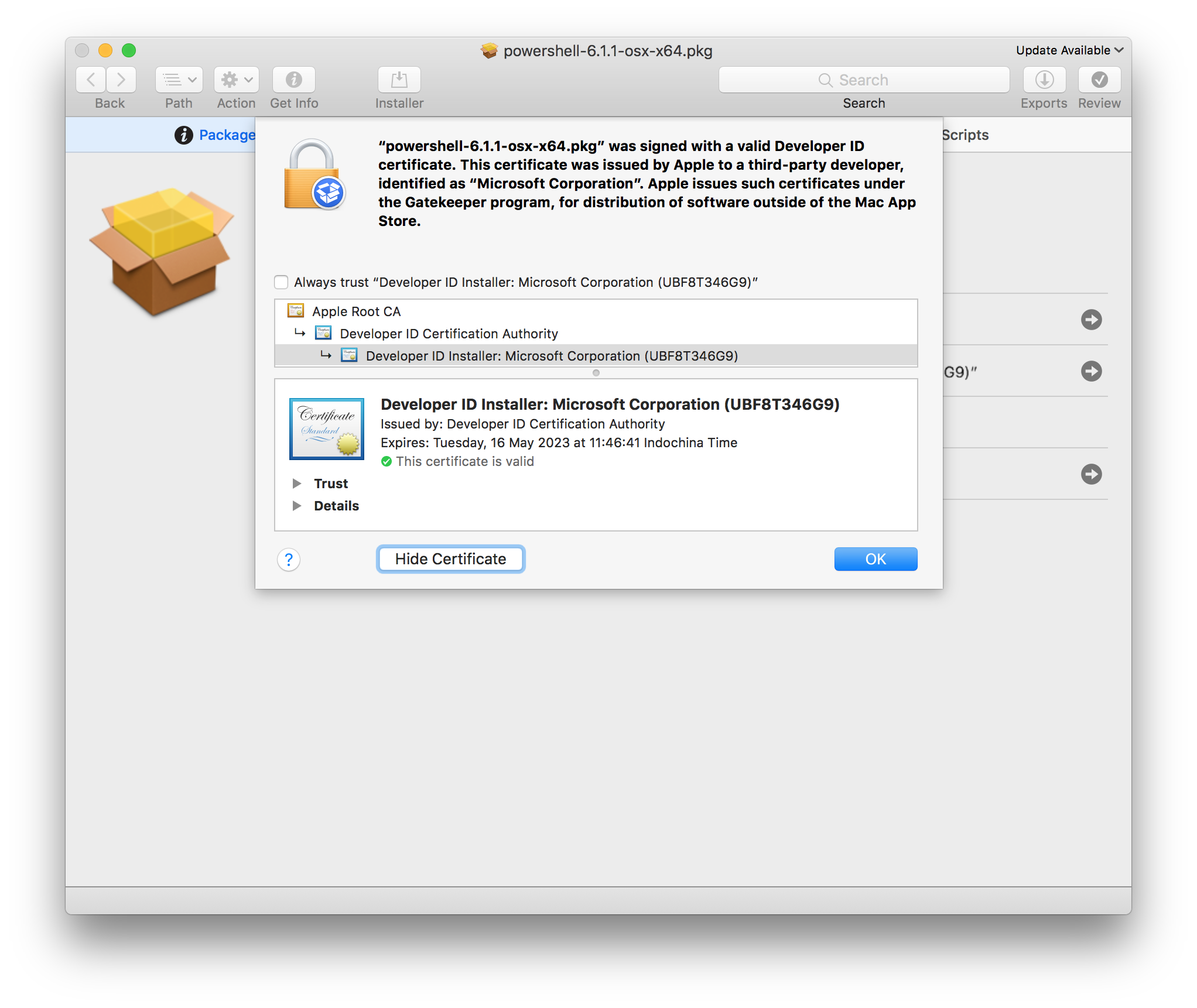 microsoft installer litters macOS with insecure binaries